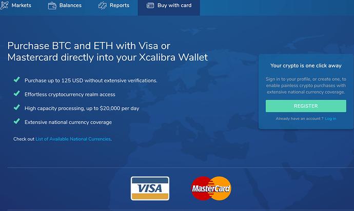 buying bitcoin with mastercard and visa card