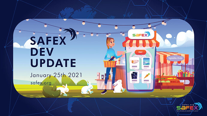 Shopping on The World Marketpace powered by Safex