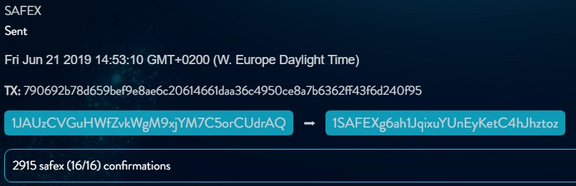 Safex_History